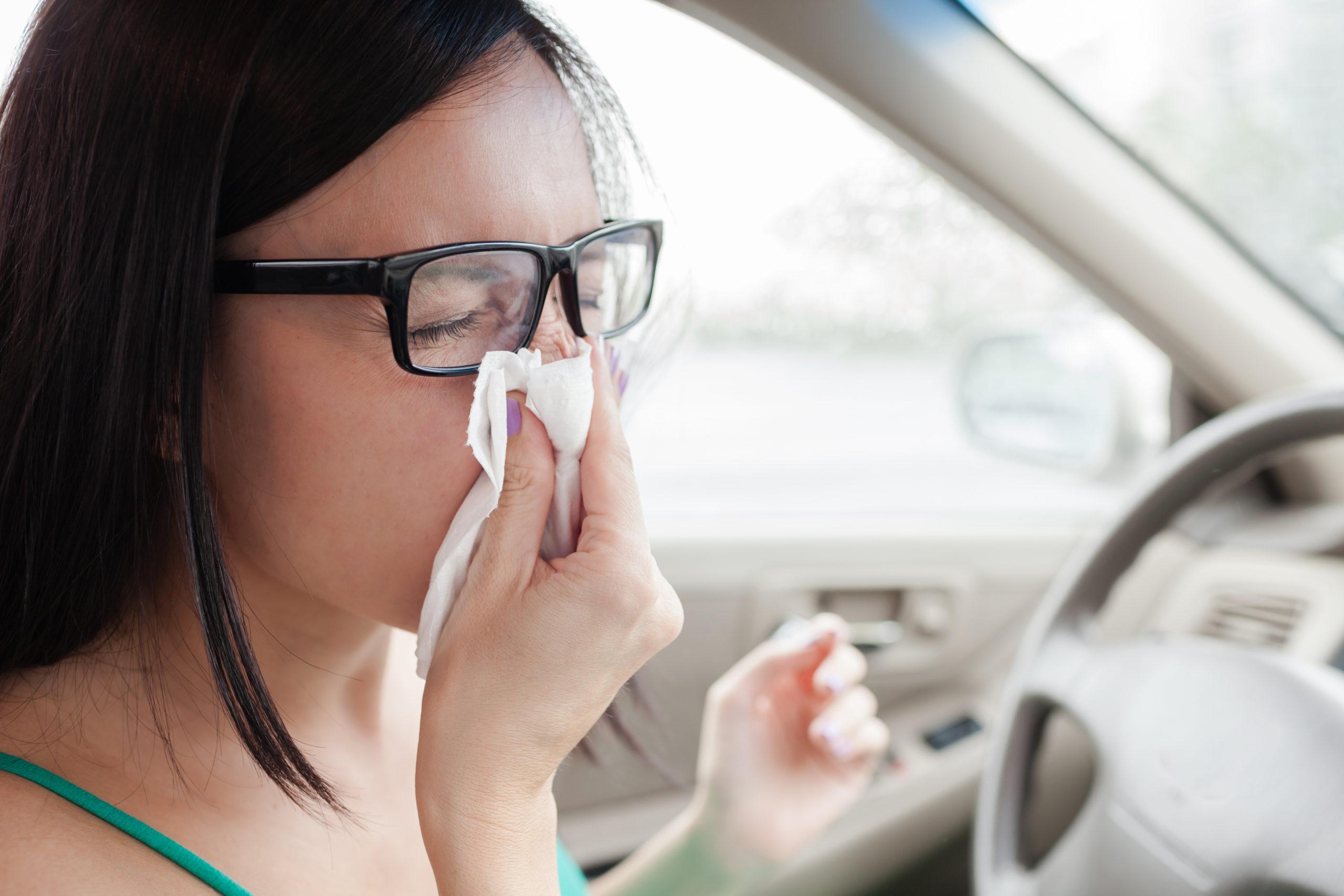 Z grypą za kierownicą