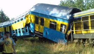 zderzenie pociągów w Korzybiu