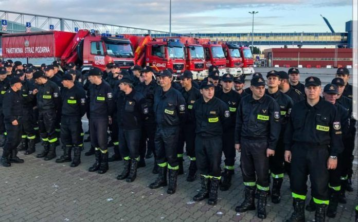Polscy Strażacy wracają ze Szwecji