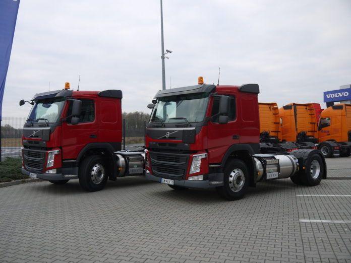 Pierwsze ciężarowki volvo FM na gaz LNG eksploatowane w Polsce