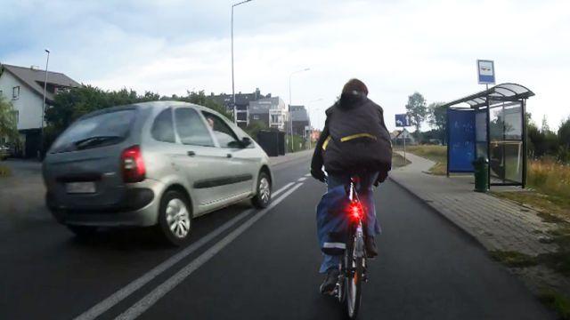 wyprzedzanie rowerzystów