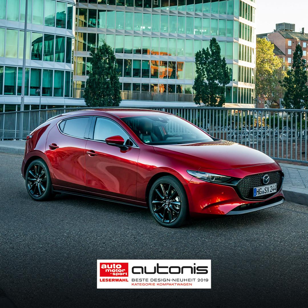 Mazda3 zdobywa nagrodę Autonis